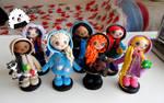 Disney Princesses (FIMO) by BeOkcreations