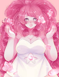 Rose quartz by KumiBoo