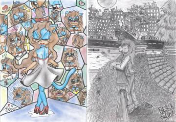 Collaborative Art - Romy n' Rayburn by pauinhopc