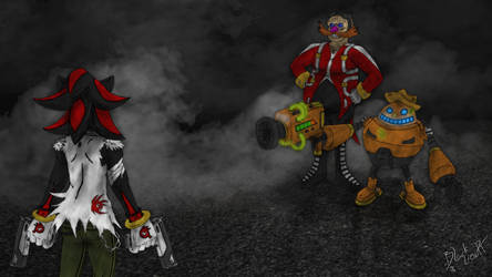Shadow VS The Egg Mafia by pauinhopc