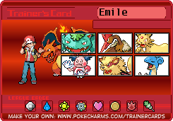 Chuggaconroy's Pokemon FireRed trainer card by Shiron-the-Windragon