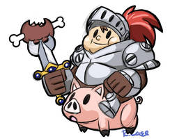 Chubby Knight doodle by rongs1234