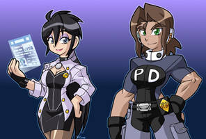 Futureistic Miss Violet and Susan by rongs1234