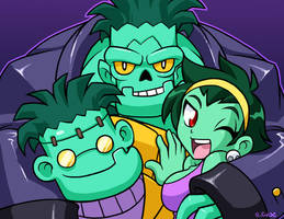A zombie family by rongs1234