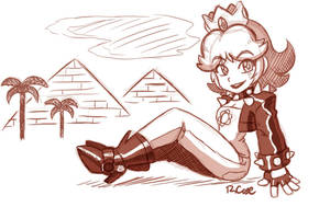 Biker Daisy doodle by rongs1234