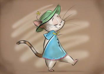 Miss Kitty Takes a Stroll... by Mitch-el