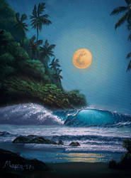 Midnight Seascape by Martynes9N