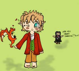 Bilbo makes a new friend! by Orikunie