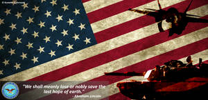US Armed Forces Poster by Kuname