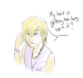 Sora needs a haircut by LobaLemu