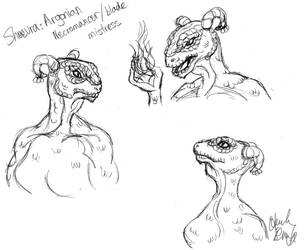 Argonian Sketches by TheLastUnicorn1985