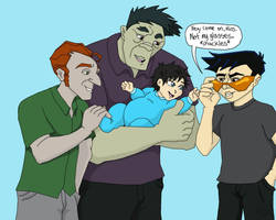 Three Enforcers and a Baby Hiroshi by TheLastUnicorn1985
