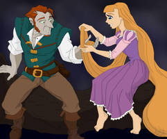 FinnxKate as Flynn Rider and Rapunzel by TheLastUnicorn1985