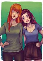 Olivia and Hali by kiz-chan
