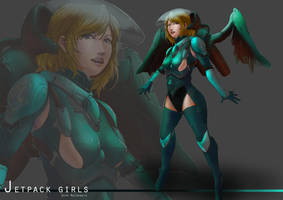Jetpack Girls :  Seph Mackenzie by KazukiAce