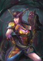 Owl-Warrior-Female by KazukiAce