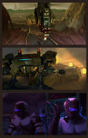 Sci Fi Mobile Game Illust by KazukiAce