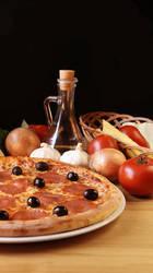 Pizza advertisement by sheseido
