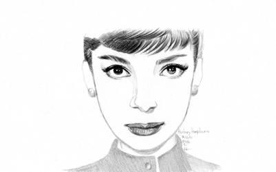 Audrey Hepburn Wallpaper type by dharma-dvg
