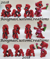 Deadpool ponies by Roogna