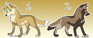 Canine Adoptables 2/2 Open by Coranila