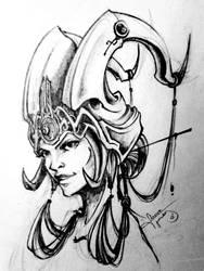 Virtual Princess Sketch by Yblaidd