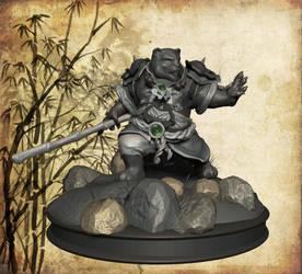Pandaren Warrior, frontal view by Yblaidd