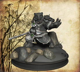 Pandaren warrior, 3/4 view by Yblaidd
