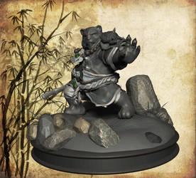 Pandaren warrior, perfil by Yblaidd