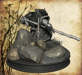 Pandaren warrior, back by Yblaidd