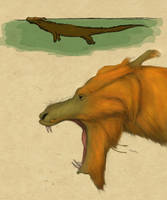 Chinese Long Therapsid by Dragonthunders