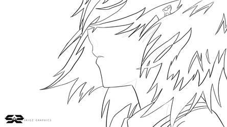 Noe Isurugi - True Tears (Line Art) 2560x1440 by SKIGZdoesART