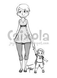 Mom and toddler by joysuko