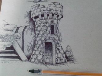 Castle Ballpoint by joysuko