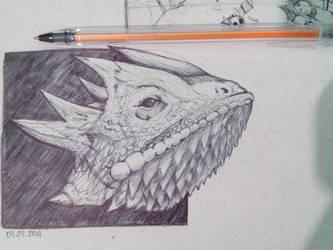 Lizard 1 Ballpoint by joysuko