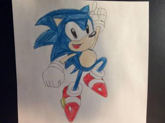 Classic Sonic by SplatCrosser