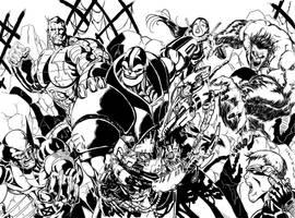 X-men VS Apocalypse by RodneyCJacobsen