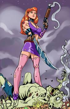 Daphne Zombie slayer by RodneyCJacobsen