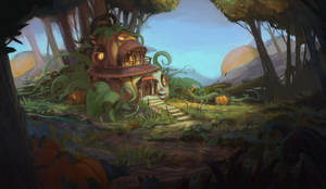 House in the forest by AntonVeter