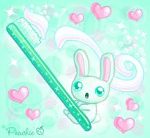 Minty Fresh Rabbit by Princess-Peachie