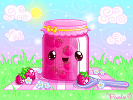 Strawberry Jam Picnic by Princess-Peachie