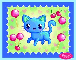 Cherry Lollipop Kitty by Princess-Peachie
