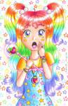 Rainbow Magical Girl by Princess-Peachie