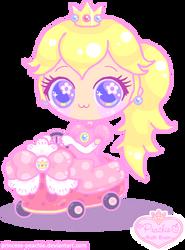 Peach in Mario Kart 7 by Princess-Peachie