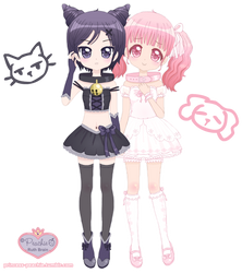 Nyaa-Nyaa and Wan-Wan Couple by Princess-Peachie