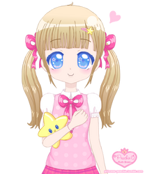 Sweet Girl and Star Plushie by Princess-Peachie