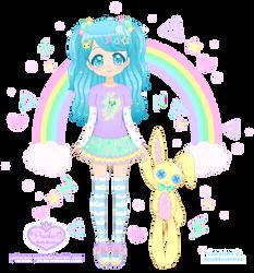 Sasha Blue + Trinket the Bunny by Princess-Peachie