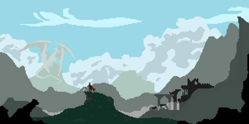 Pixel Landscape - HERO by Kisaoda