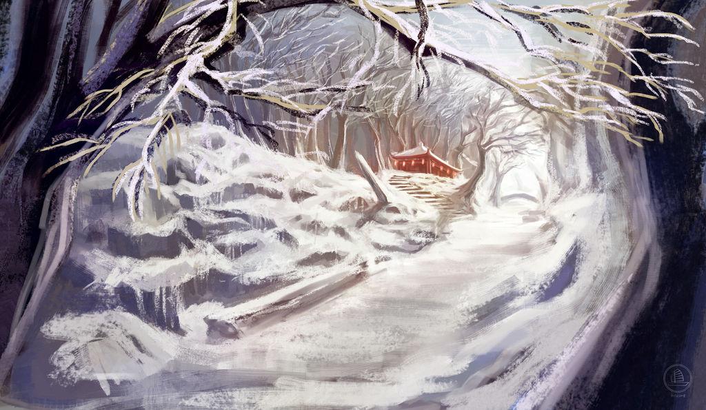 Snowy-Shrine by xiaofanchuanart