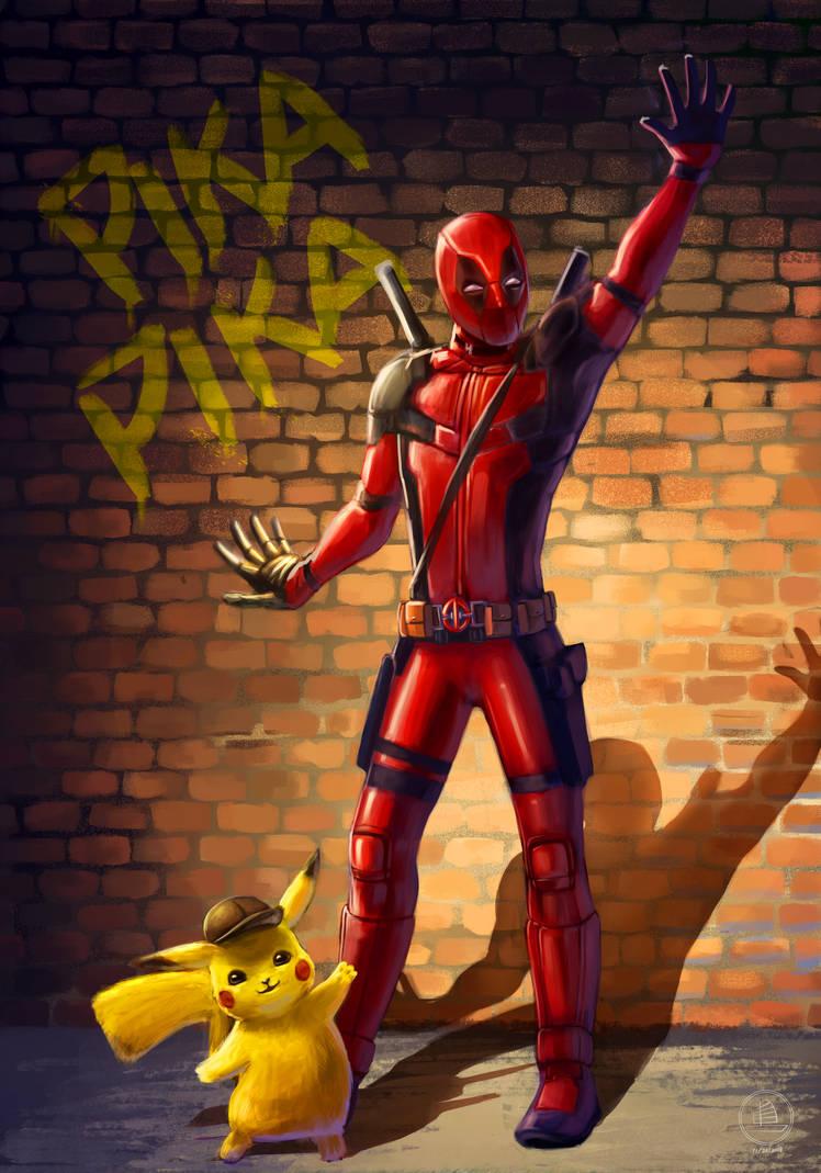 Deadpool-Pikachu by xiaofanchuanart